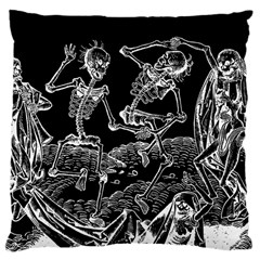Skeletons   Halloween Large Cushion Case (two Sides)