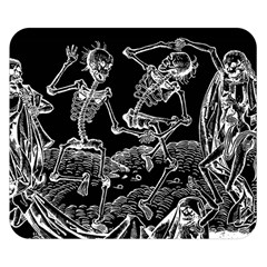 Skeletons   Halloween Double Sided Flano Blanket (small)
