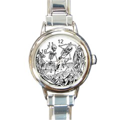 Skeletons   Halloween Round Italian Charm Watch