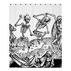 Skeletons   Halloween Shower Curtain 60  X 72  (medium)