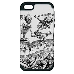 Skeletons   Halloween Apple Iphone 5 Hardshell Case (pc+silicone) by Valentinaart