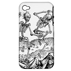 Skeletons   Halloween Apple Iphone 4/4s Hardshell Case (pc+silicone)