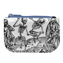 Skeletons   Halloween Large Coin Purse by Valentinaart