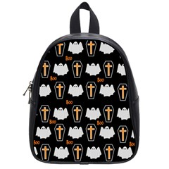 Ghost And Chest Halloween Pattern School Bag (small) by Valentinaart