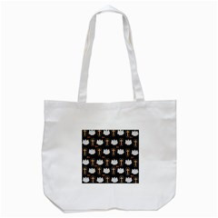 Ghost And Chest Halloween Pattern Tote Bag (white)