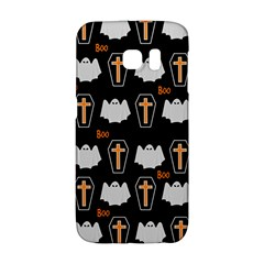 Ghost And Chest Halloween Pattern Galaxy S6 Edge by Valentinaart