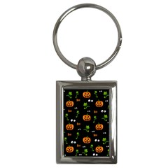 Pumpkins   Halloween Pattern Key Chains (rectangle)  by Valentinaart