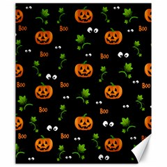 Pumpkins   Halloween Pattern Canvas 20  X 24   by Valentinaart