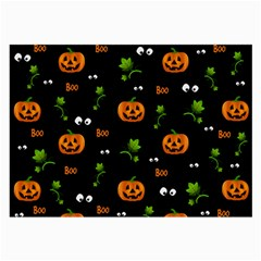 Pumpkins   Halloween Pattern Large Glasses Cloth by Valentinaart
