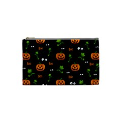 Pumpkins   Halloween Pattern Cosmetic Bag (small)  by Valentinaart