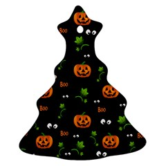 Pumpkins   Halloween Pattern Ornament (christmas Tree)