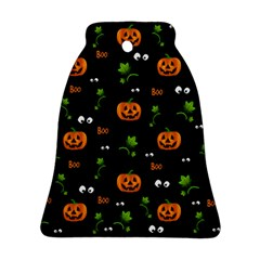 Pumpkins   Halloween Pattern Bell Ornament (two Sides) by Valentinaart
