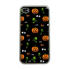 Pumpkins   Halloween Pattern Apple Iphone 4 Case (clear) by Valentinaart
