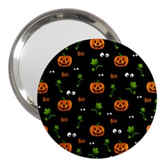 Pumpkins   Halloween Pattern 3  Handbag Mirrors by Valentinaart