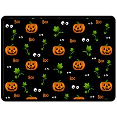 Pumpkins   Halloween Pattern Double Sided Fleece Blanket (large)