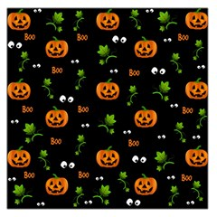 Pumpkins   Halloween Pattern Large Satin Scarf (square) by Valentinaart
