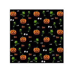 Pumpkins   Halloween Pattern Small Satin Scarf (square) by Valentinaart