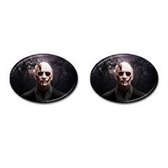 Zombie Cufflinks (oval) by Valentinaart