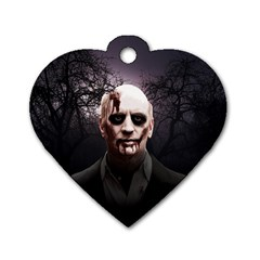Zombie Dog Tag Heart (two Sides) by Valentinaart