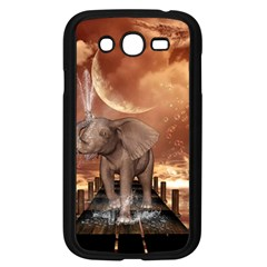 Cute Baby Elephant On A Jetty Samsung Galaxy Grand Duos I9082 Case (black) by FantasyWorld7
