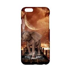 Cute Baby Elephant On A Jetty Apple Iphone 6/6s Hardshell Case by FantasyWorld7