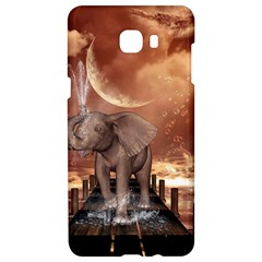 Cute Baby Elephant On A Jetty Samsung C9 Pro Hardshell Case  by FantasyWorld7