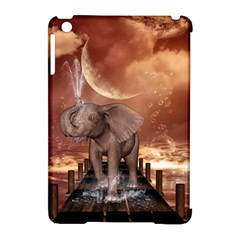 Cute Baby Elephant On A Jetty Apple Ipad Mini Hardshell Case (compatible With Smart Cover) by FantasyWorld7