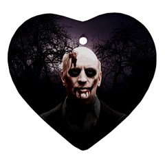 Zombie Ornament (heart) by Valentinaart