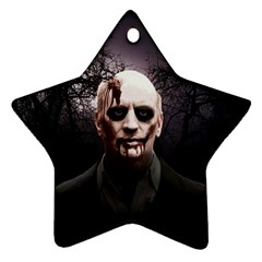 Zombie Star Ornament (two Sides) by Valentinaart