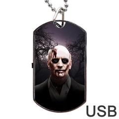 Zombie Dog Tag Usb Flash (two Sides) by Valentinaart