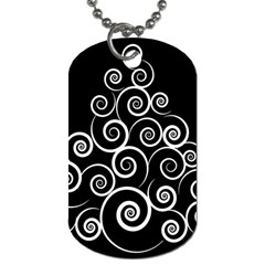 Abstract Spiral Christmas Tree Dog Tag (one Side) by Mariart