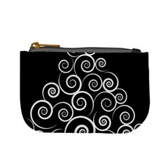 Abstract Spiral Christmas Tree Mini Coin Purses