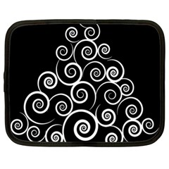 Abstract Spiral Christmas Tree Netbook Case (xl)  by Mariart