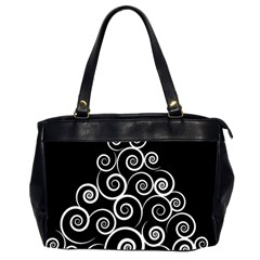 Abstract Spiral Christmas Tree Office Handbags (2 Sides)  by Mariart