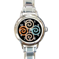 Abroad Spines Circle Round Italian Charm Watch by Mariart