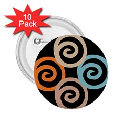 Abroad Spines Circle 2 25  Buttons (10 Pack)