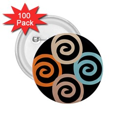 Abroad Spines Circle 2 25  Buttons (100 Pack)  by Mariart