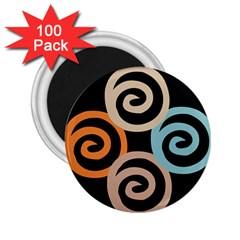 Abroad Spines Circle 2 25  Magnets (100 Pack)  by Mariart