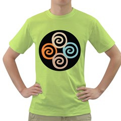 Abroad Spines Circle Green T-shirt by Mariart