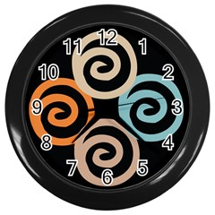 Abroad Spines Circle Wall Clocks (black) by Mariart
