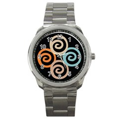 Abroad Spines Circle Sport Metal Watch by Mariart