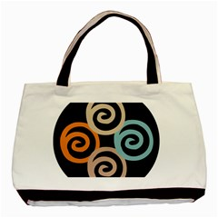 Abroad Spines Circle Basic Tote Bag (two Sides) by Mariart