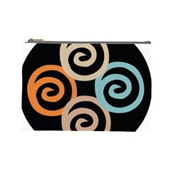Abroad Spines Circle Cosmetic Bag (large)  by Mariart