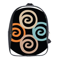 Abroad Spines Circle School Bag (large) by Mariart