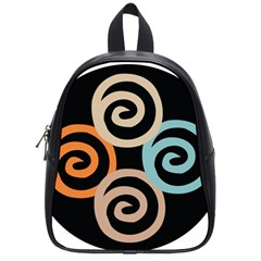 Abroad Spines Circle School Bag (small) by Mariart