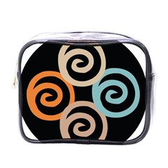 Abroad Spines Circle Mini Toiletries Bags by Mariart