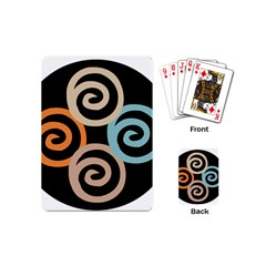 Abroad Spines Circle Playing Cards (mini)  by Mariart