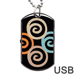 Abroad Spines Circle Dog Tag Usb Flash (two Sides) by Mariart