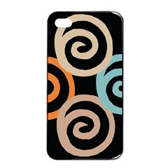 Abroad Spines Circle Apple Iphone 4/4s Seamless Case (black)