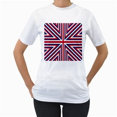 Alternatively Mega British America Women s T Shirt (white) (two Sided) by Mariart